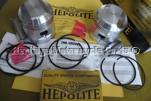 Details about 2 HEPOLITE PISTONS Triumph T120 1959-75 +20 o/size GUDGEON  PINS CIRCLIPS RINGS
