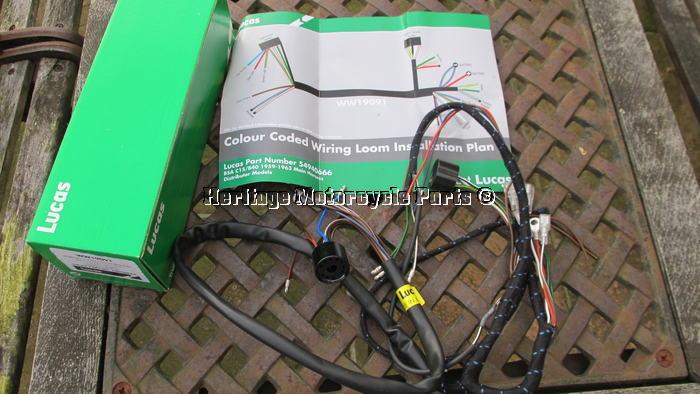 bsa c15 wiring harness bsa image wiring diagram new cloth bound lucas 54949610 wiring harness diagram bsa c15 b40 on bsa c15 wiring harness