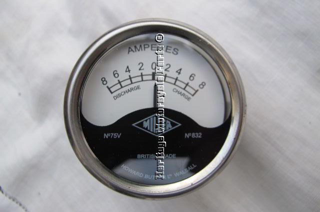 new genuine classic motorcycle english miller shallow ... ammeter wiring 12v