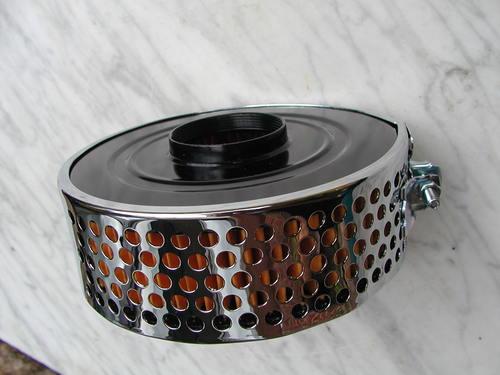 BSA Triumph Norton 376 600 627 chrome pancake air filter center fitting