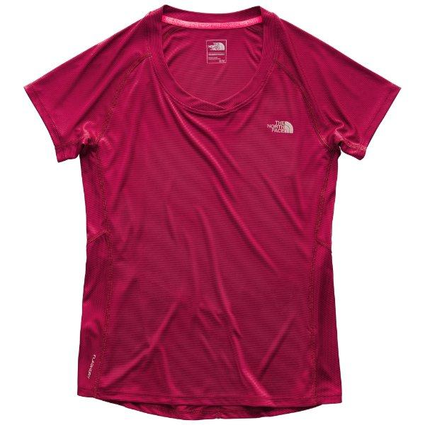 NWT Women/'s TNF Rumba Red Short Sleeve Ambition Top Shirt Large Lightweight New