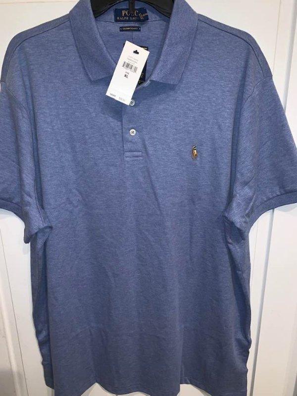 Men's Ralph Lauren Ralph Lauren Polo T shirt Blue, XL