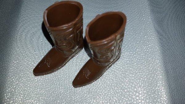Vintage Ken Doll Dark Brown Cowboy Boots Japan 1960s Barbie
