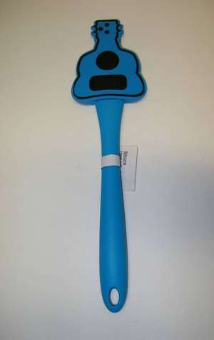 New guitar shaped bowl scraper silicone spatula cooking baking tool blue ebay - Guitar shaped spatula ...