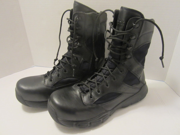 d4bece6bd3e18d Details about Reebok Military Dauntless 8in Side Zip Mens Black Boots -  Size 9M RB8826