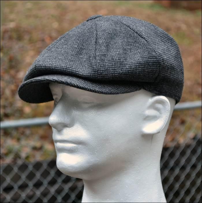 GREY WOOL TWEED GATSBY CAP Men Newsboy Ivy Hat Golf Driving Flat ... d0a0fcb87bd