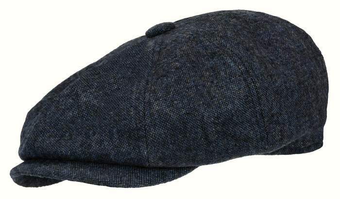 12c6897f62d ROOSTER COBALT BLUE GRAY WOOL TWEED NEWSBOY GATSBY CAP GOLF DRIVING ...