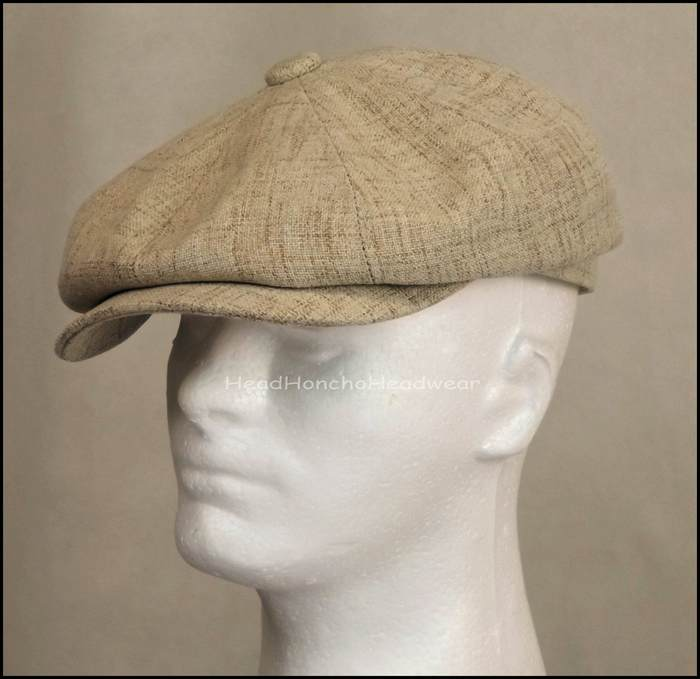 STETSON POLY NEWSBOY GATSBY CAP DRIVING GOLF IVY HAT CABBIE FLAT TAN ... 1e214a5601a
