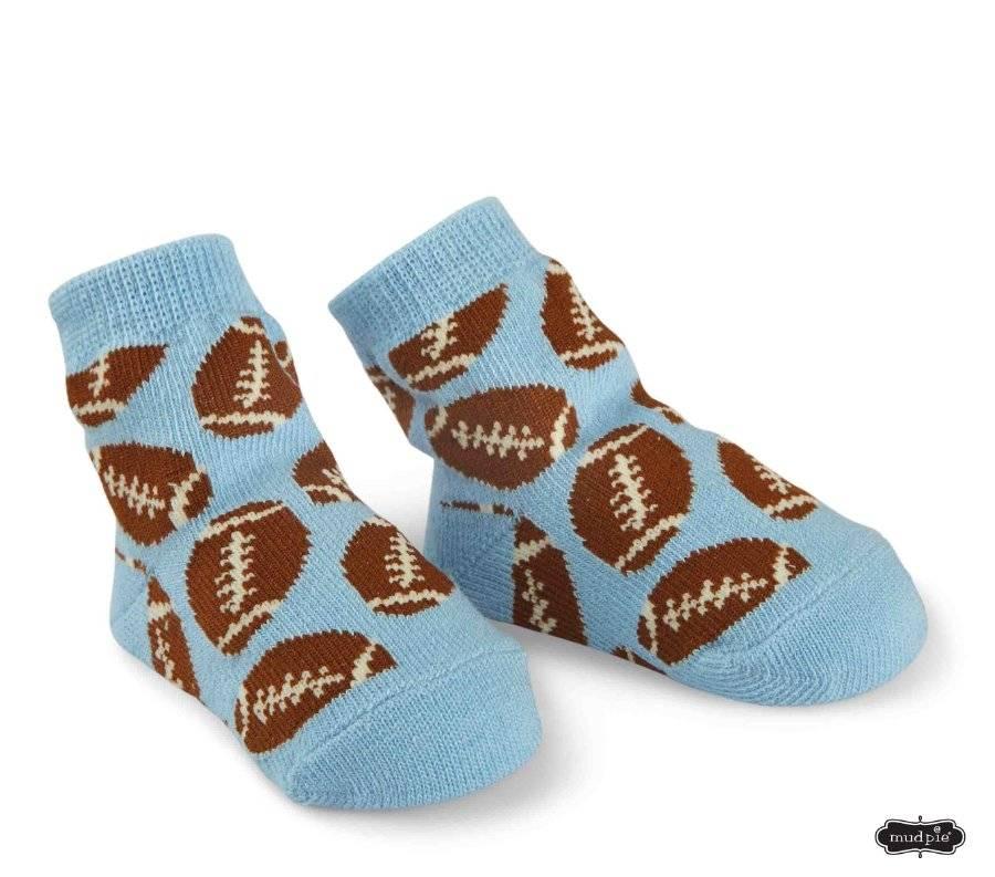 NEW Pair Of MUD PIE BABY Green//Blue Striped Sneaker Baby Boy Socks 0-12 Months