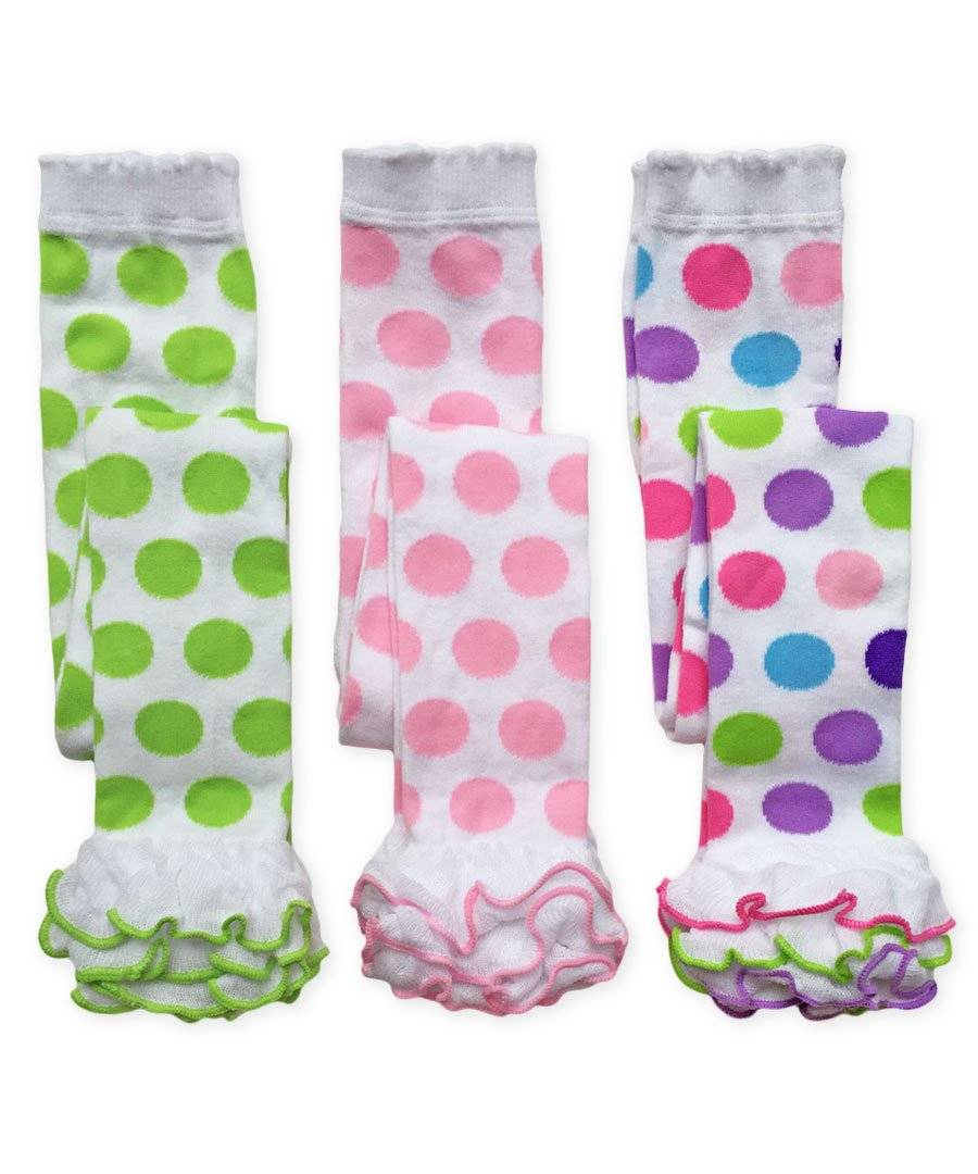 Jefferies Polka Dot Fuzzy Cuff Knee High Socks Boot Socks  2-4 Years 3-7 Years
