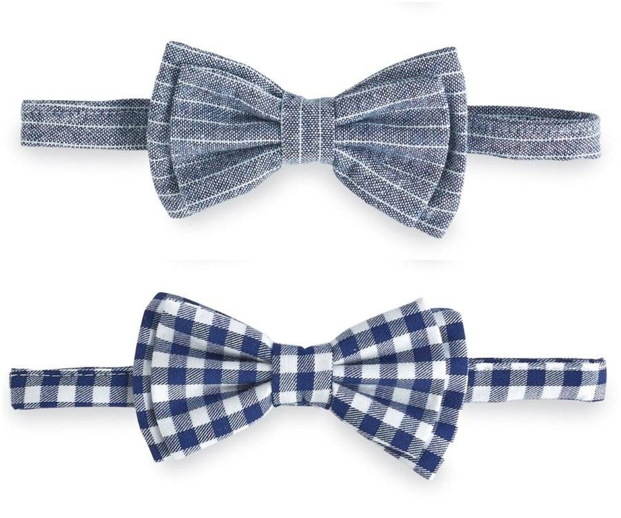 Up To 5T 1582153 Mud Pie E8 Baby Boy Chambray Bow Tie Suspender Set One Size
