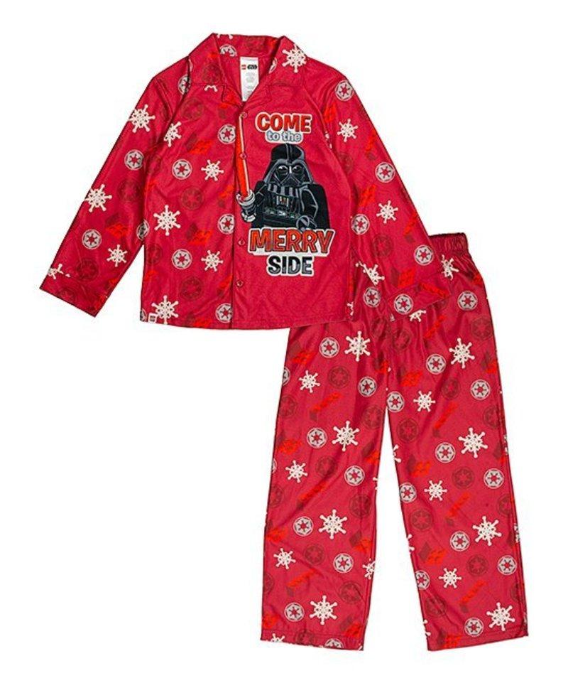 Star Wars Darth Lightsabers Long 2 Piece Pajama PJ Set Boys Size 8 NWT