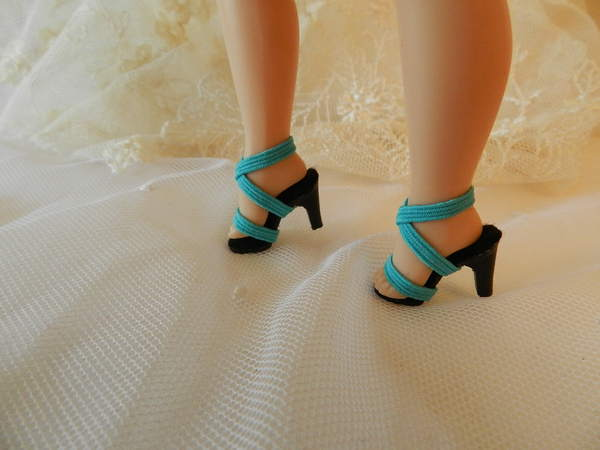 All Pink Narrow Toe High Heel Doll Shoes~Replica Of Qrig.~For Cissette
