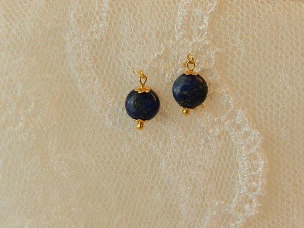 Vintage 8 mm Jumeau Blue Earrings~ Drops for Jumeau~ Antique Doll Jewelry