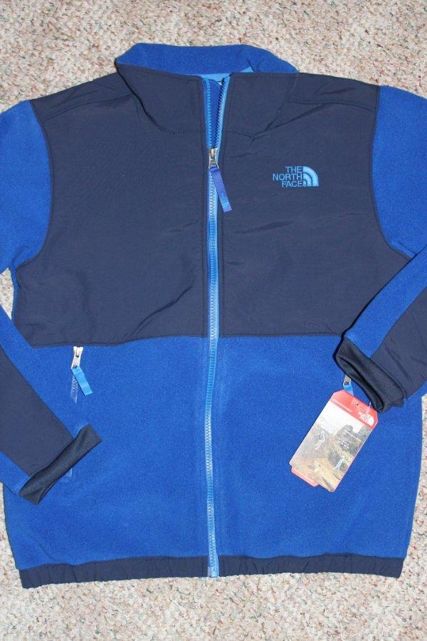 de7a0d2b3 Details about The NORTH FACE Boys Honor BLUE Denali FLEECE JACKET Coat L 14  16