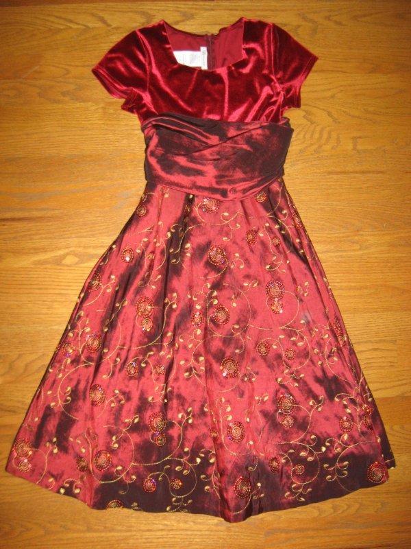 Girls Holiday Christmas Dress 5 6 7 8 10 14 Or 16 Rare