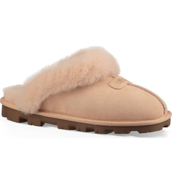 30f82cec8cc Details about UGG Genuine Shearling Suede AMBER light COQUETTE SLIPPERS  Slides Shoes US 10
