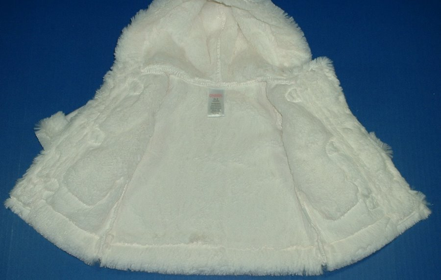 8b241d6d6 Gymboree Forest Sprouts Girls White Holiday Faux Fur Trim Sherpa ...