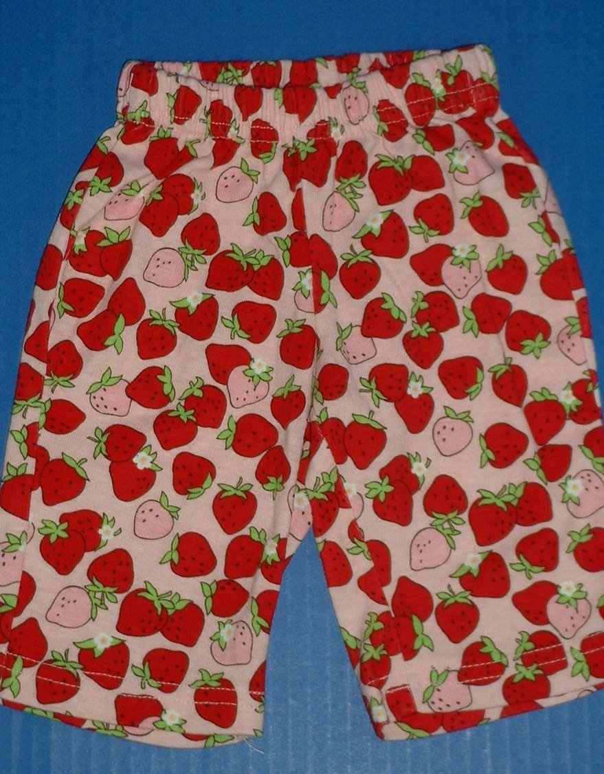Gymboree Janie Jack Girls SpringSummer Pants Strawberry Nautical Peace on Earth