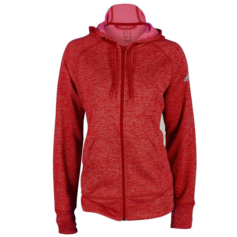 bf77698441f9 Details about ADIDAS WOMEN S CLIMAWARM TEAM ISSUE FLEECE FULL ZIP HOODIE  (SMALL) NEW