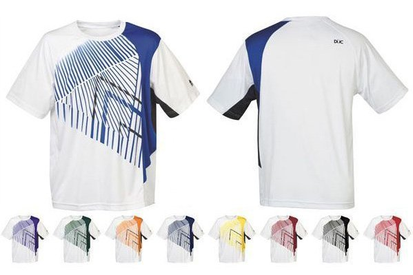 quality design 76039 28f4d Details about DUC STRIPER MEN'S TENNIS SHIRT SHORT SLEEVE NEW TAGS