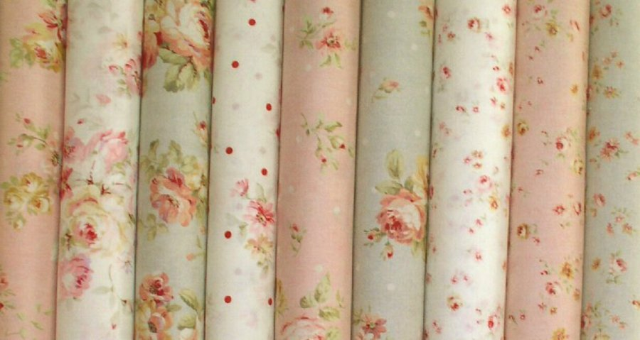 Cottage Shabby Chic Lecien Durham Quilt Floral Cotton Fabric 31336-110 BTY
