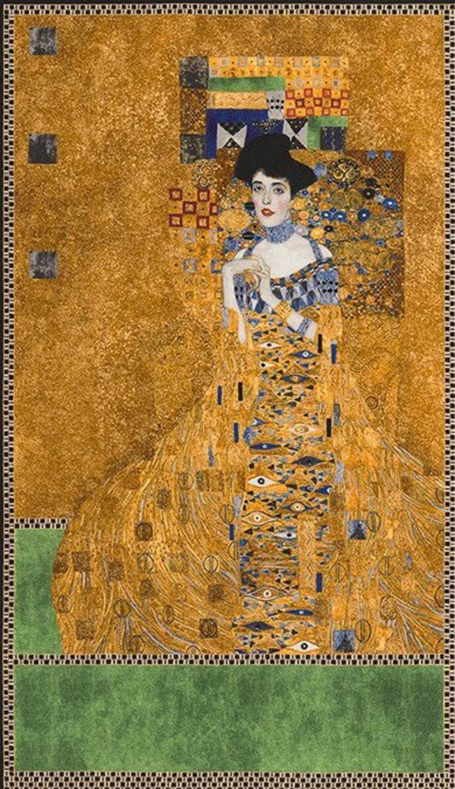 Details About Robert Kaufman Digital Fabric Panel Gustav Klimt Portrait Of Adele Bloch Bauer