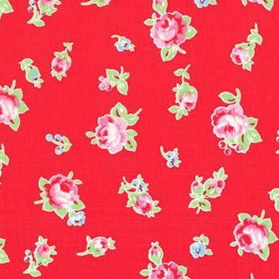Stupendous Cottage Shabby Chic Lecien Flower Sugar Floral 30843L 30 Red Download Free Architecture Designs Boapuretrmadebymaigaardcom