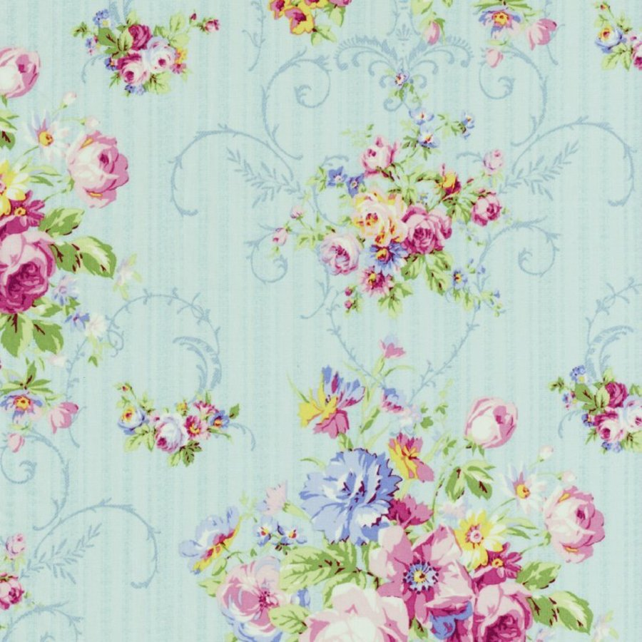 Groovy Details About Cottage Shabby Chic Lecien Rococo Sweet Floral Fabric 31860L 70 Sky Bty Download Free Architecture Designs Boapuretrmadebymaigaardcom