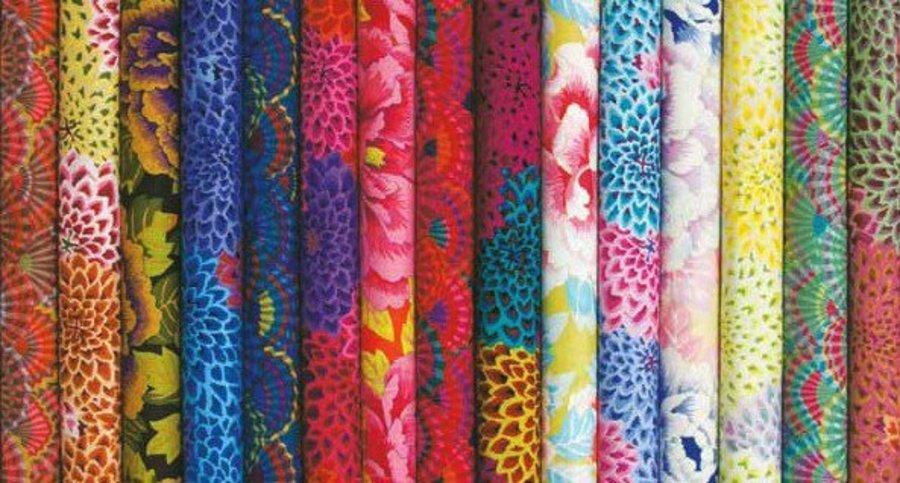 1//2 Yard Kaffe Fassett Dahlia Blooms Ltd Ed Lush Quilting Fabric