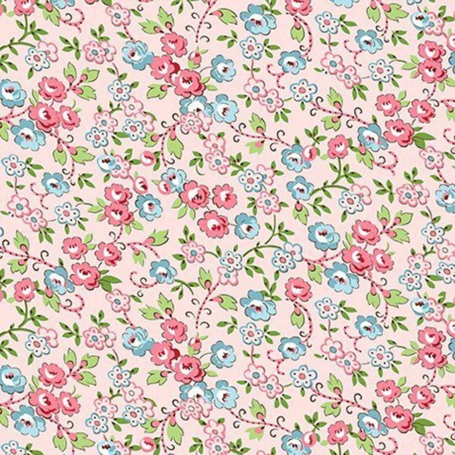 Quilting Treasures Bleeker Street Dainty Floral 23073 P Light Pink
