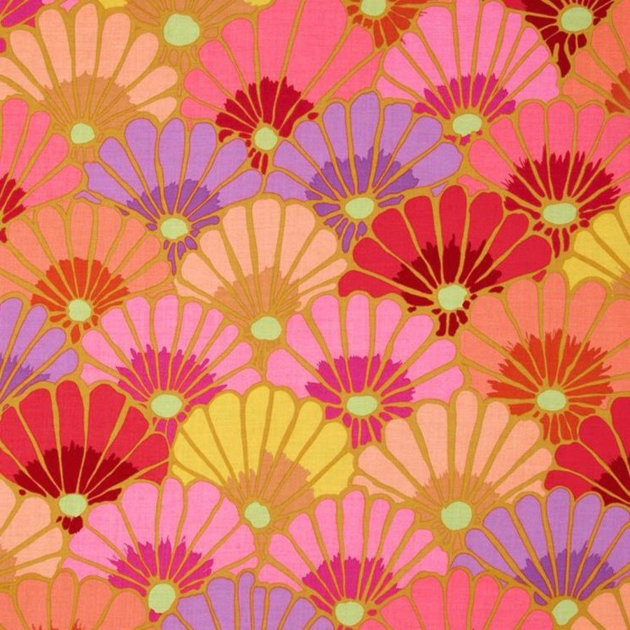 Kaffe Fassett Thousand Flowers Cotton Fab PWGP144 Pink Fall 2014 Collection BTY