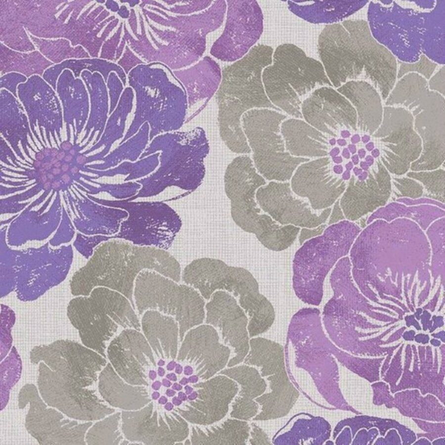 Wilmington Purple Haze by Daphne B 44068 966 Gray Leaf Toss BTY Cotton Fabric