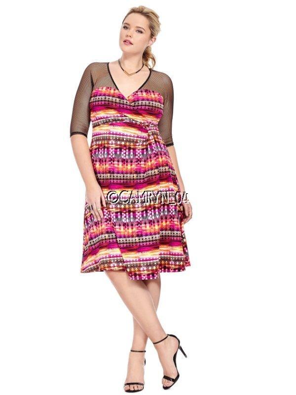 New Kiyonna Sugar And Spice Mesh Dress Plus Size 5 5x Lane Bryant Ebay