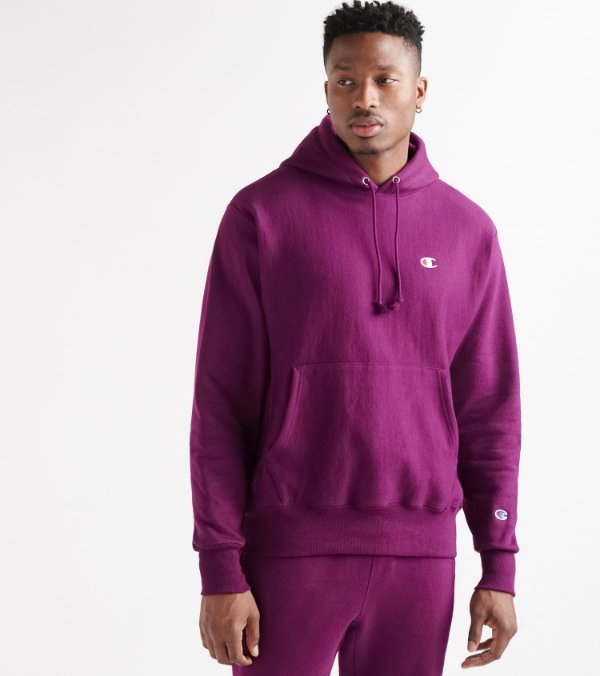 purple champion hoodie