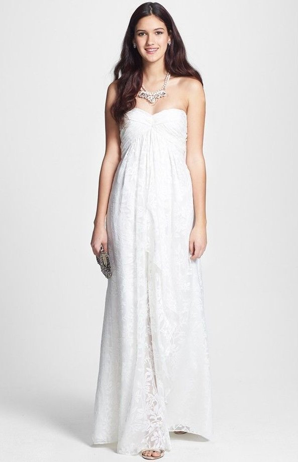 BHLDN ANTHROPOLOGIE JILL JILL STUART OFF WHITE FLORAL BURNOUT MAXI ...