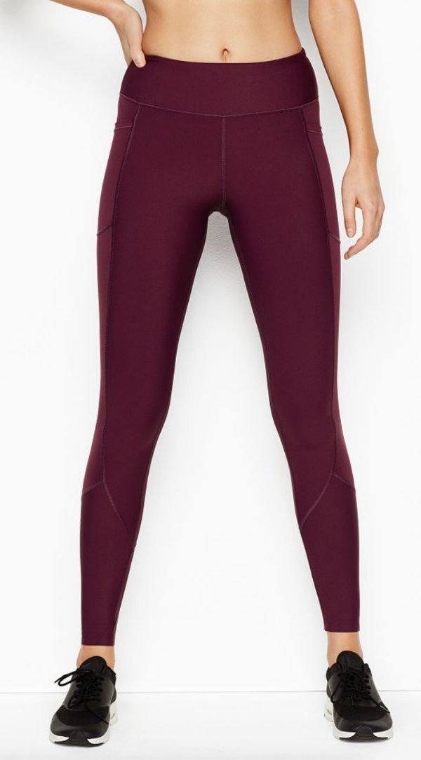 outlet for sale search for newest nice shoes Details about VICTORIA'S SECRET TOTAL KNOCKOUT BURGUNDY POCKET TIGHT  LEGGINGS PANTS L SHORT