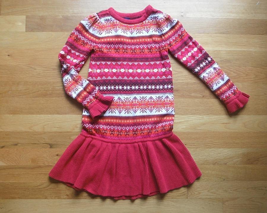 BABY GAP Red Fair Isle Sweater Dress Girls 5T 5 Years | eBay