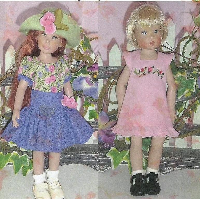 NG Creations Sewing Pattern #57B Gingham Dress fits Crissy /& Velvet Dolls