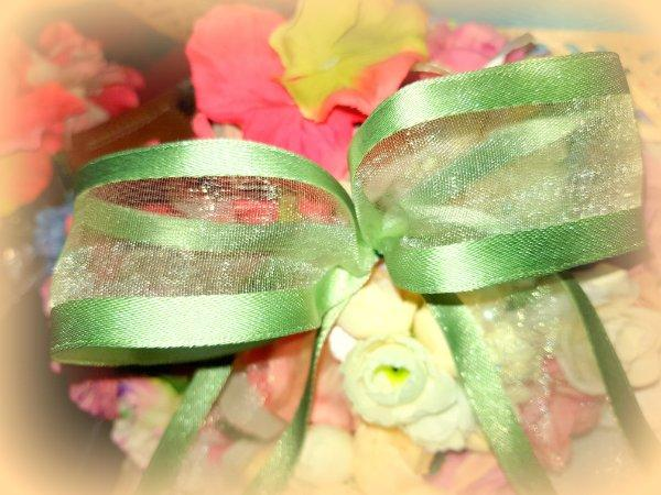 "2M  WIRED WIRE EDGED ORGANZA RIBBON PURPLE PINK MIRAGE 1.5/"" WEDDINGS BIRTHDAY"