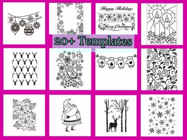 Christmas Designs.Details About Darice Embossing Folder Over 20 Christmas Designs Deer Holly Tree Santa
