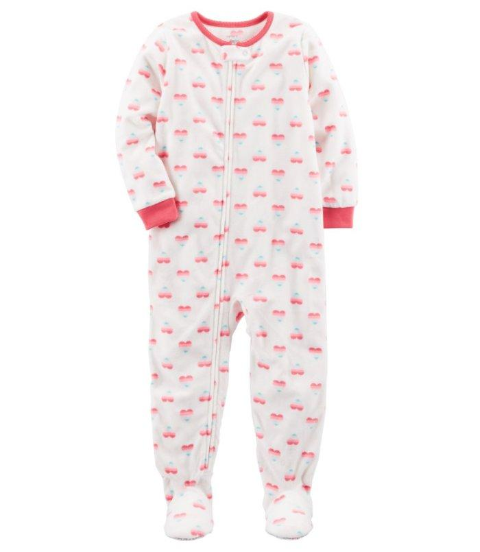 677213b2d Crafted in snuggly fleece, this 1-piece takes her from nap time to play  time in no time! Zip-up design makes for quick changes and easy dressing.