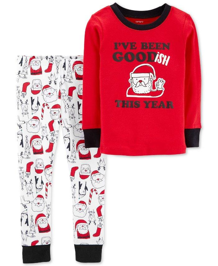 bf1599b4038d CARTER S® Toddler Boy 4T Santa Goodish 2-Piece Cotton Pajama Set NWT ...