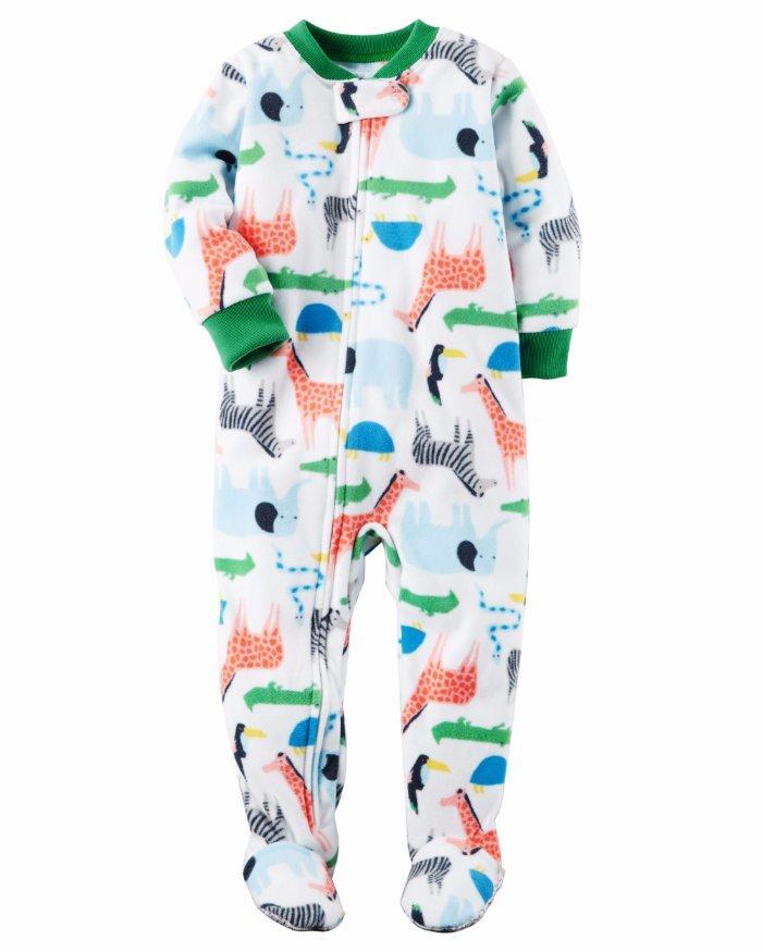 b6bc6f2b7a28 CARTER S® Baby Boy 18M Safari Footed Pajama or Fleece Sleeper NWT ...