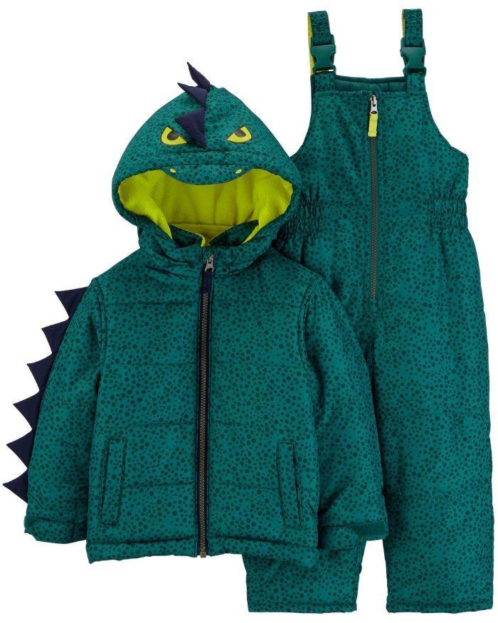 201da9ba4 CARTER S® Boys 2T Dinosaur Heavyweight Jacket   Snowsuit Set NWT