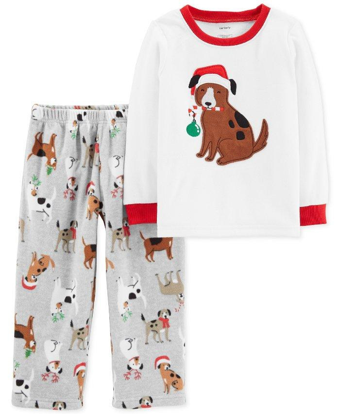 cc0bfca6c29f CARTER S® Toddler Boys  5T Holiday Dog 2-Piece Fleece Pajama Set NWT ...