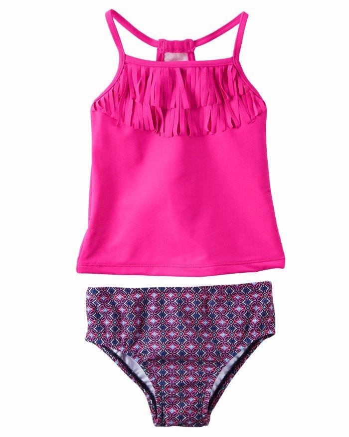 2b1dac0c98 CARTER'S® Girls' 8 Pink Fringe 2 Piece Tankini Swim Set NWT ...
