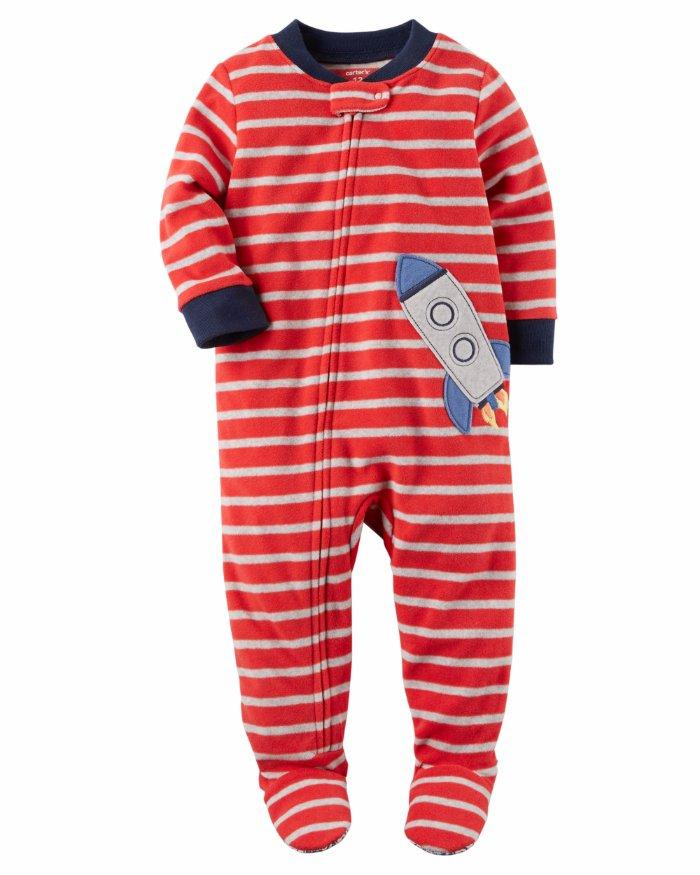d2245f60ca88 CARTER S® Toddler Boy 2T Rocket Striped Footed Pajama or Fleece ...