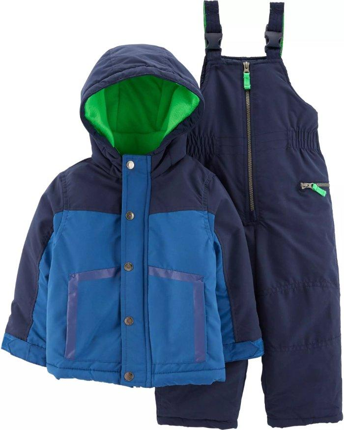 89195cabb CARTER S® Boys 10 12 Blue Colorblock 2-Piece Jacket   Snowsuit NWT ...