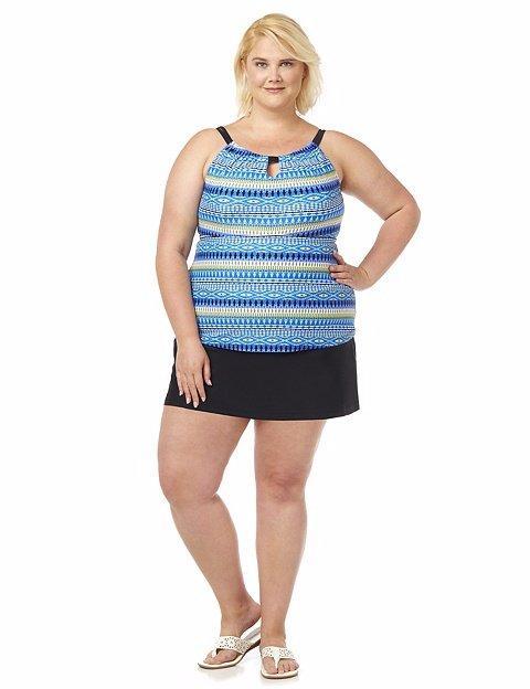 Details about CATHERINE\'S® Plus Size 18W-24W El Caribe Swimdress NWT